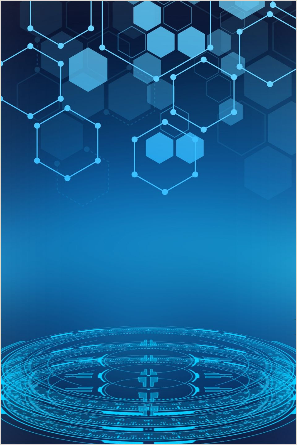 Blue Business Card Background Blue Tech Lines Background In 2020