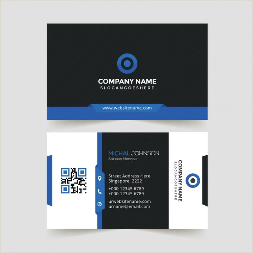 Blue Business Card Background Creative Business Card Paid Paid Ad Card Business