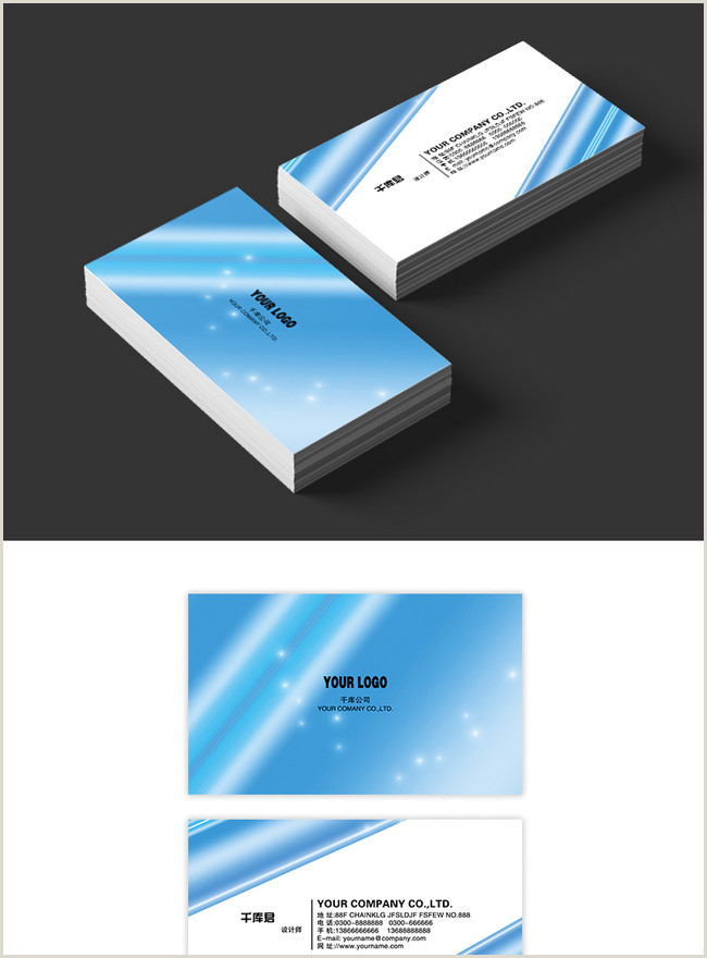 Blue Business Card Background Dark Blue Business Card High End Business Card Template