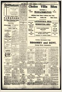 Bsiness Cards Launceston Examiner Newspaper Archives Feb 17 1920 P 2