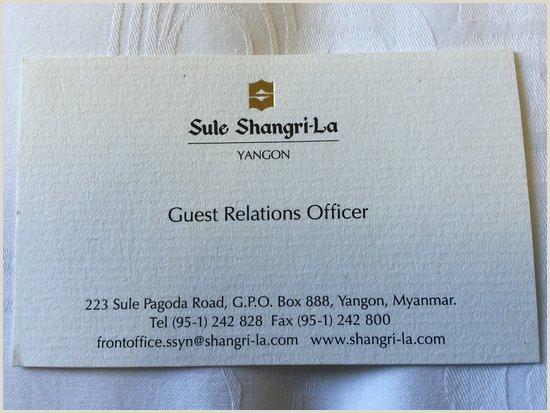 Buisnes Cards Business Card Picture Of Sule Shangri La Yangon Yangon