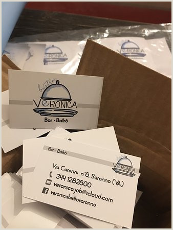 Buisness Caeds Business Card Picture Of Veronica Bistro Saronno