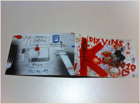Buisness Caeds Super Cute Business Card De Le Dix Vins Carouge