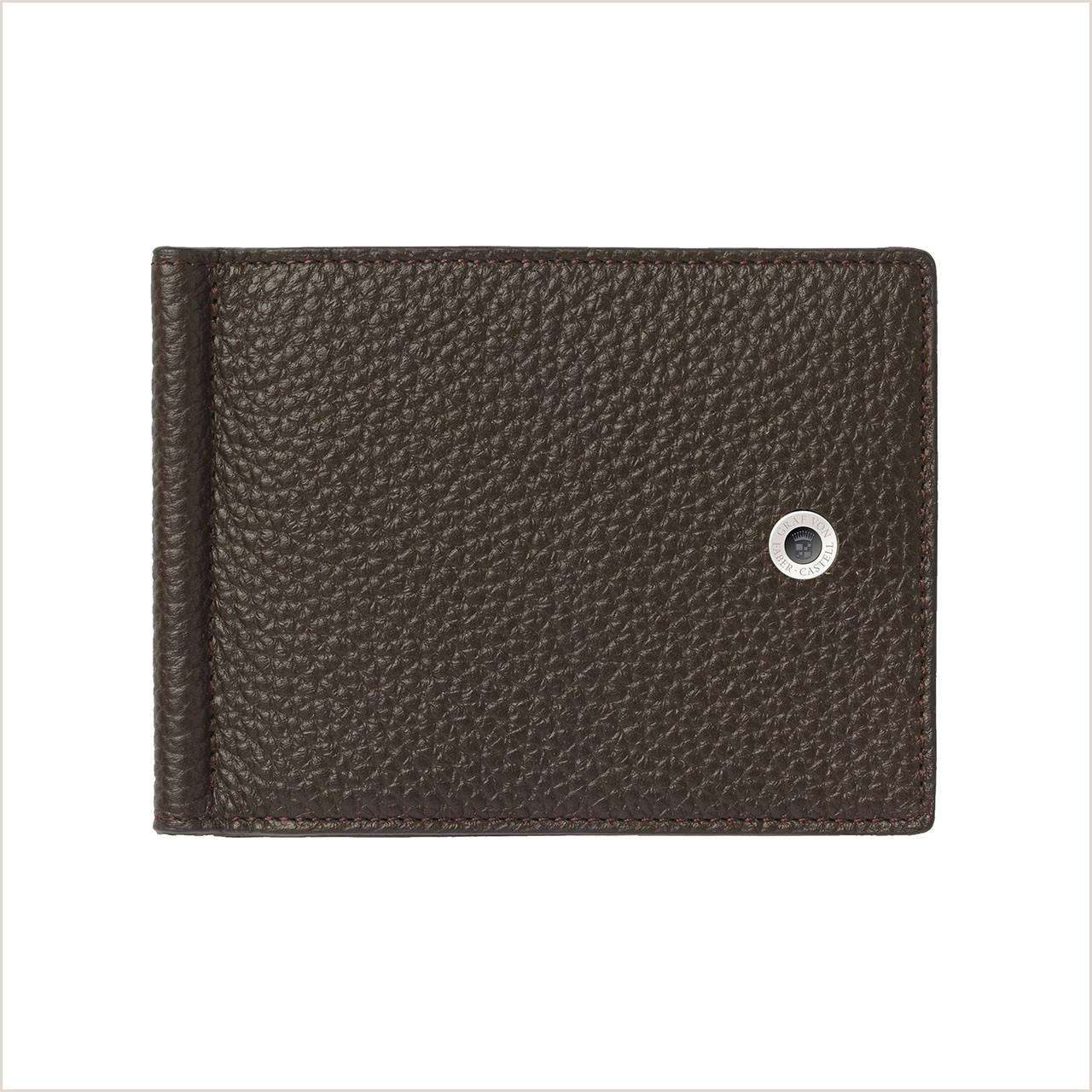 Buisness Card Examples Card Case Money Clip Dark Brown
