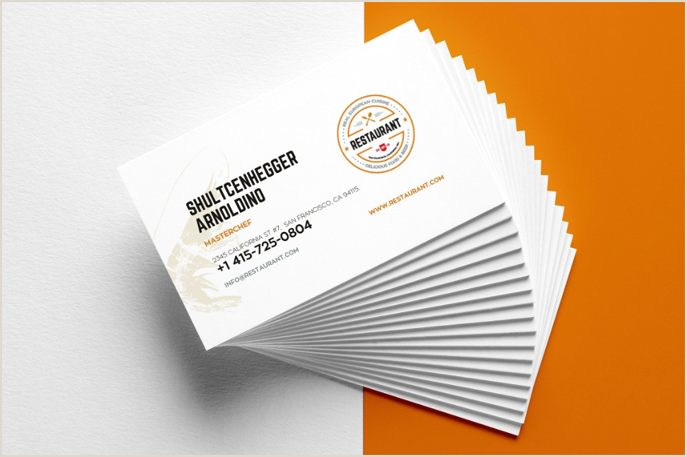 Buisness Card Examples Creative Restaurant Business Card Templates Ai Apple Pages