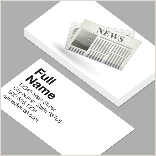 Buisness Card Examples Newspaper Business Card