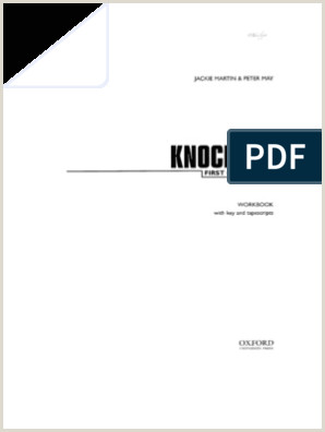 Buisness Card Examples Oxford Fce Knockout First Certificate Workbook Key