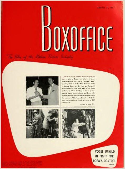 Buisness Card Ideas Boxoffice August 31 1957