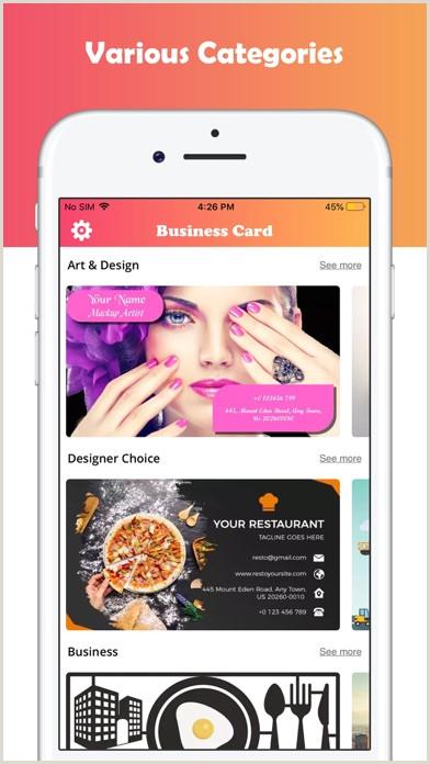 Buisness Card Ideas Business Card Maker Designer By Bhavesh Gabani Ios