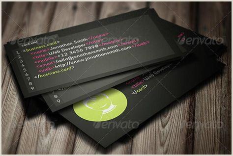 Buisness Cards Ideas Creative Web Developer Business Card Templates – Psd