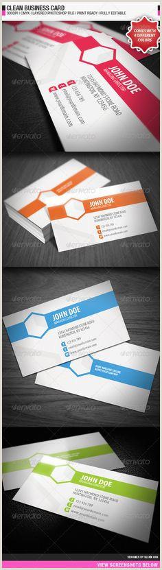Busines Card Design 9 Best Clean Business Card Images