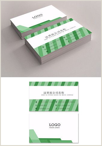 Busines Card Design Green And Fresh Advertising Business Card Design