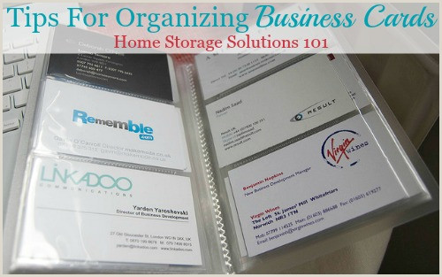 Business Card Advice Tips For Organizing Business Cards For Home Reference