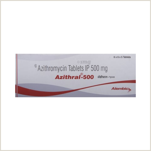Business Card Back Azithral 500 Tablet View Uses Side Effects Price And