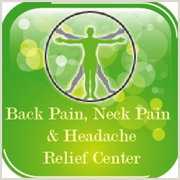 Business Card Back Back Pain Neck Pain & Headache Relief Center By Exeersoft Inc