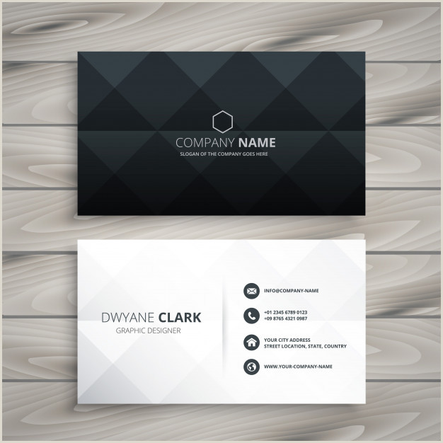 Business Card Black And White Free Vector