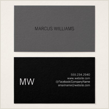 Business Card Black And White Modern Sophisticated Gray Black Business Card Elegant