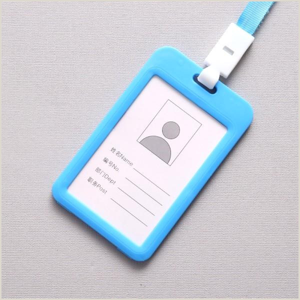 Business Card Color 2020 Candy Color Id Badge Card Holder Wallet With Lanyard Neck Strap Name Tag Credit Business Student Work Access Card Case 2019 M450f From Sea