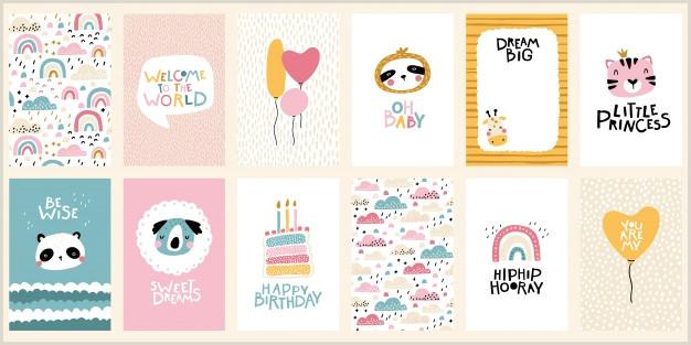 Business Card Color Birthday Card