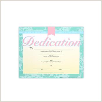 Business Card Color Broadman Church Supplies Dedication Certificates 8 1 2 X