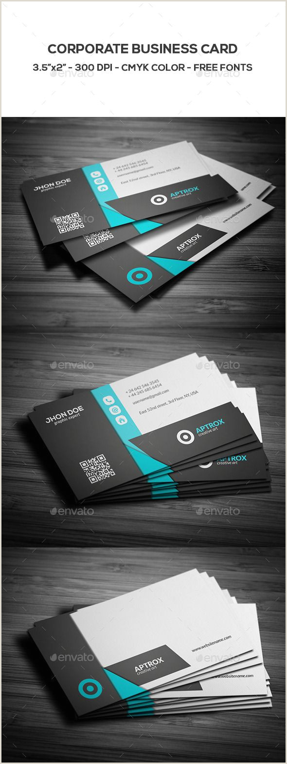 Business Card Color Corporate Business Card Template Psd