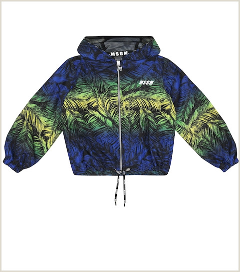 Business Card Color Msgm Kids Printed Technical Jacket