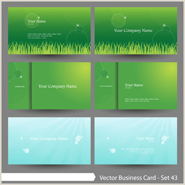 Business Card Color Orange And Green Color Business Card Background Free Vector