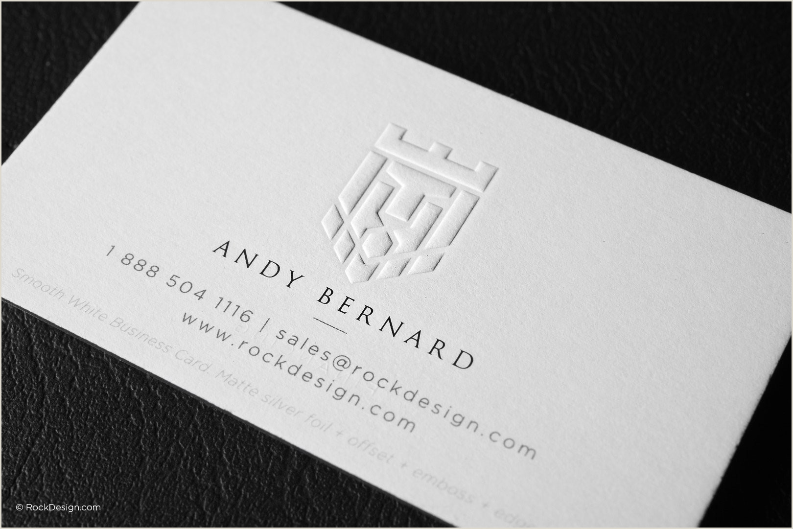 Business Card Content Free Emboss & Foil Business Card Templates