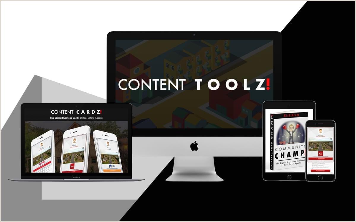 Business Card Content Main Links Content Cardz