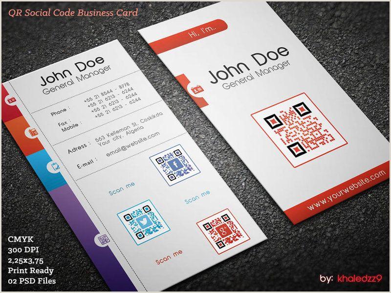 Business Card Content Qr Social Code Business Card By Khaledzz9 On Deviantart
