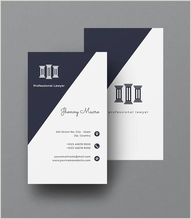 Business Card Design And Print Lawyer Vertical Business Card Template Ai Eps Psd In 2020