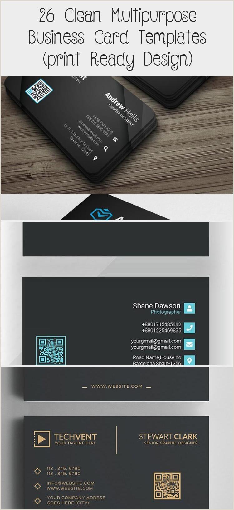 Business Card Design Website 26 Clean Multipurpose Business Card Templates Print Ready