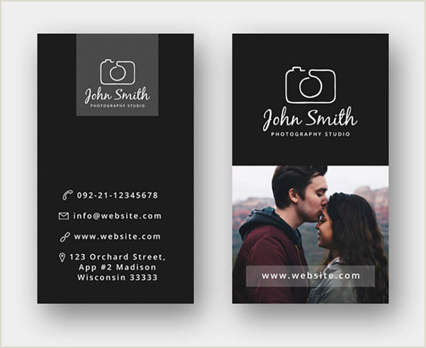 Business Card Design With Photo 18 Free Business Cards With Designs Shop Psd