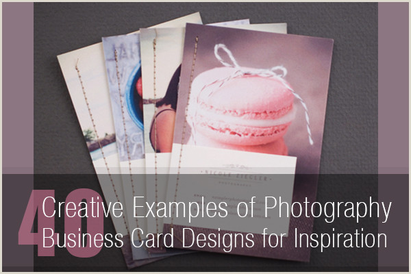 Business Card Design With Photo 40 Creative Graphy Business Card Designs For Inspiration