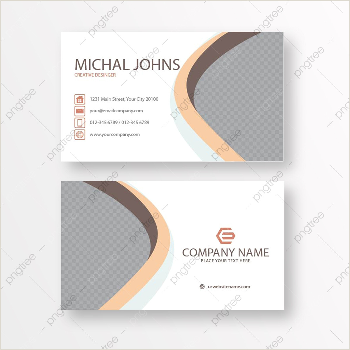 Business Card Design With Photo Business Card Design Png