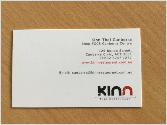 Business Card Design With Photo Photo1 Picture Of Kinn Thai Restaurant Canberra
