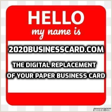 Business Card Examples 2020 2020 Business Card