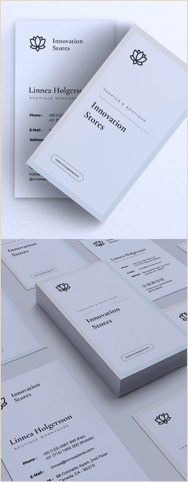 Business Card Examples 2020 25 Best Business Card Templates For 2020
