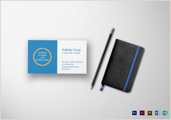Business Card Examples For Students 21 Student Business Card Templates Psd Word Pages