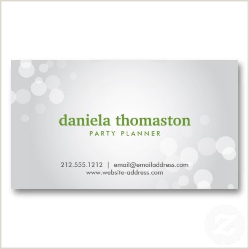 Business Card Examples For Students Silver Spotlight Bokeh No 2 Business Card
