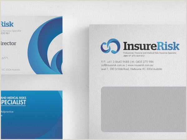 Business Card Information To Include Insurerisk Corporate Identity Branding By Lemongraphic