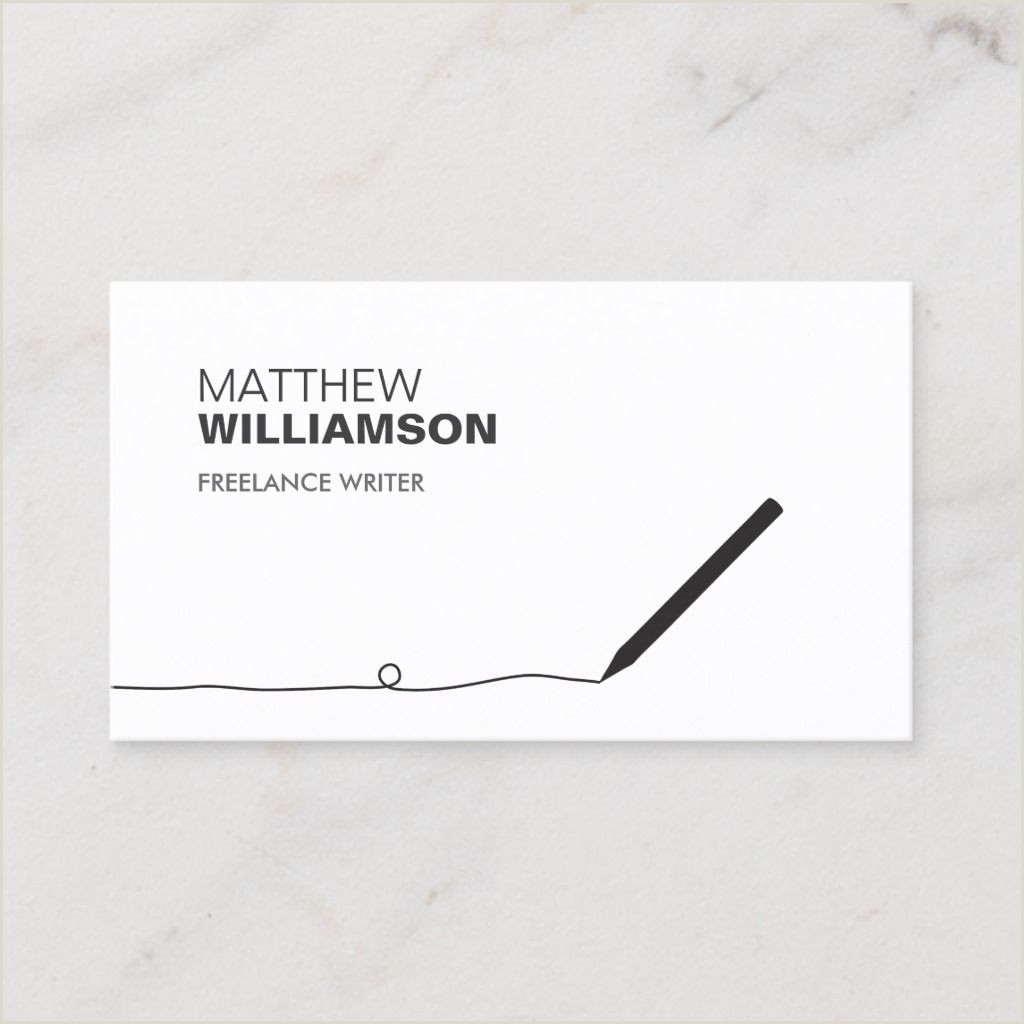 Business Card Information To Include Pencil Business Card For Authors & Writers