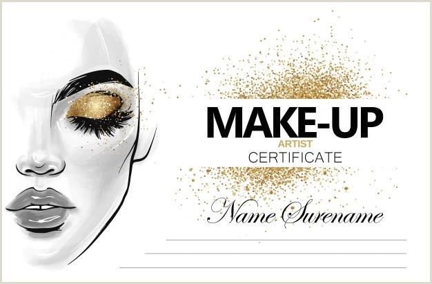 Business Card Logo Samples Makeup Artist Certificate Template