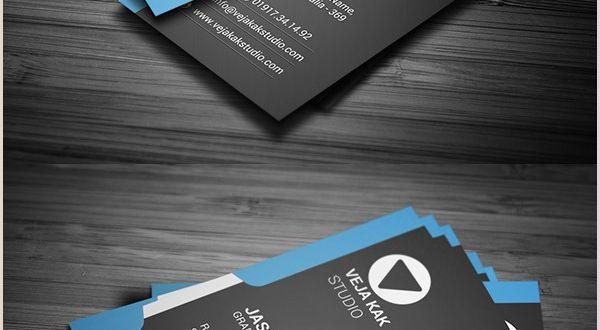 Business Card Modern Design Modern Vertical Business Card