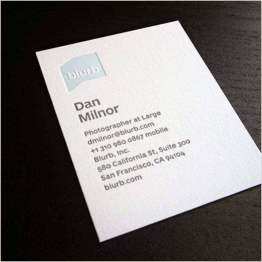 Business Card Portfolio Blurb Business Card