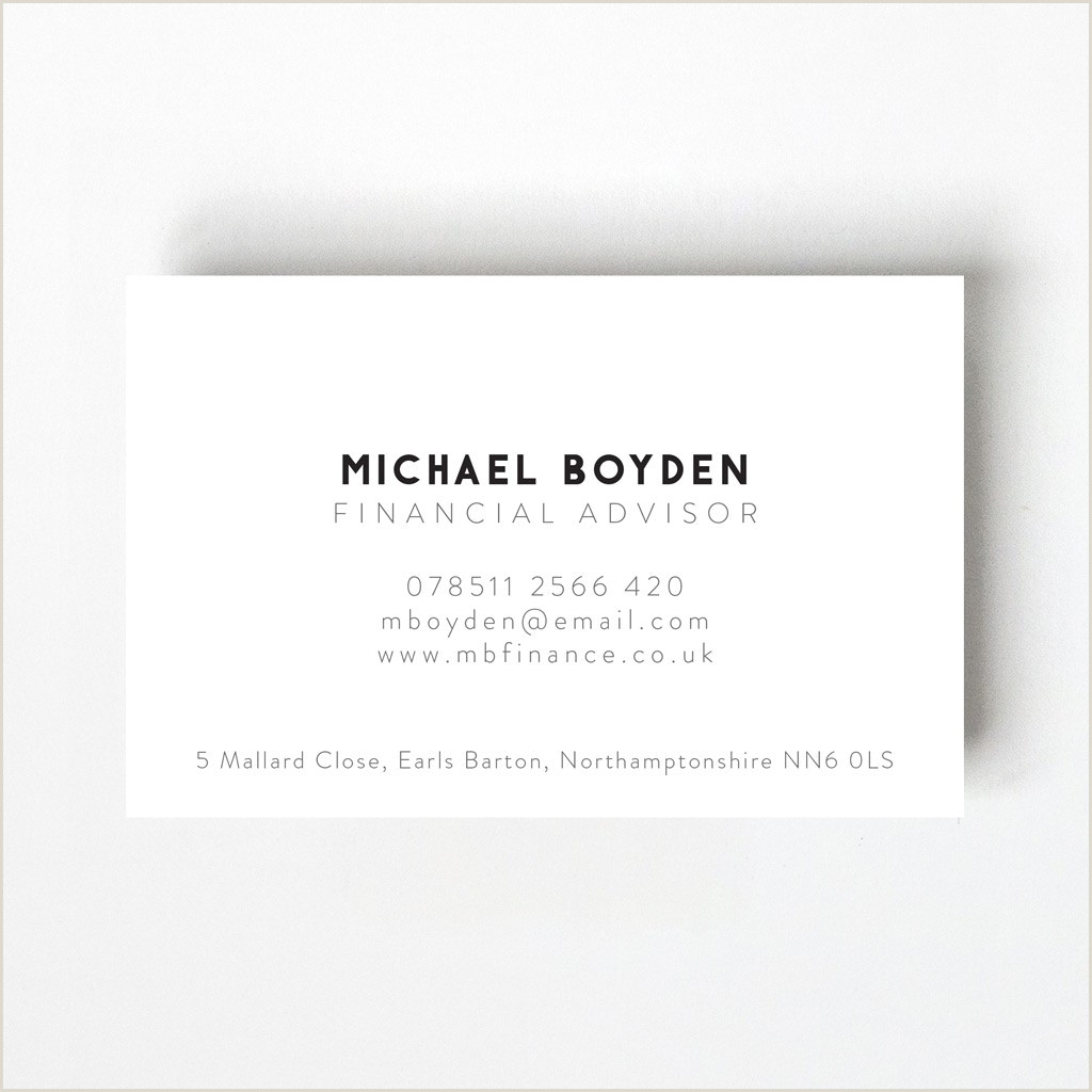 Business Card Portfolio Minimal Design Business Card