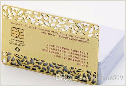 Business Card Proof 2020 Hollow Out Lace Golden Business Card Metal Visit Card From Hellen8599 $150 76
