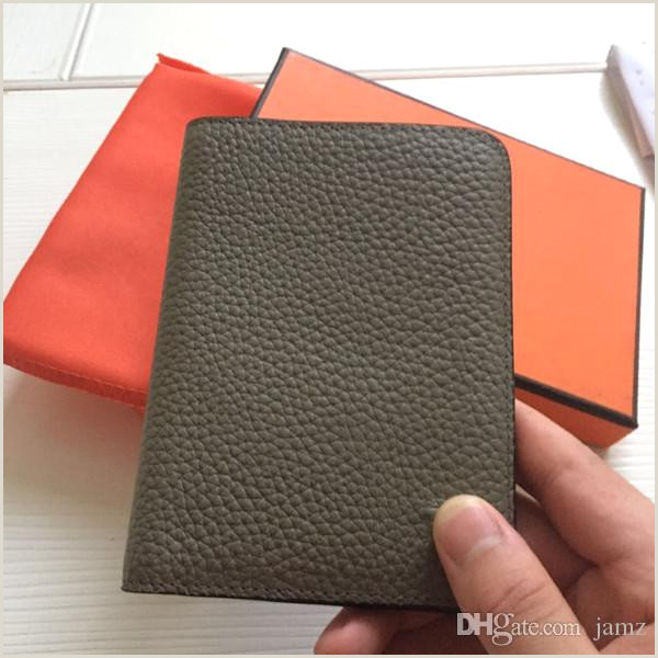 Business Card Proof Men Genuine Leather Passport Cover Wallet Women Luxury Credit Card Holder Men Business Card Holder Travel Passport Holder With Dust Bag Box Cheap
