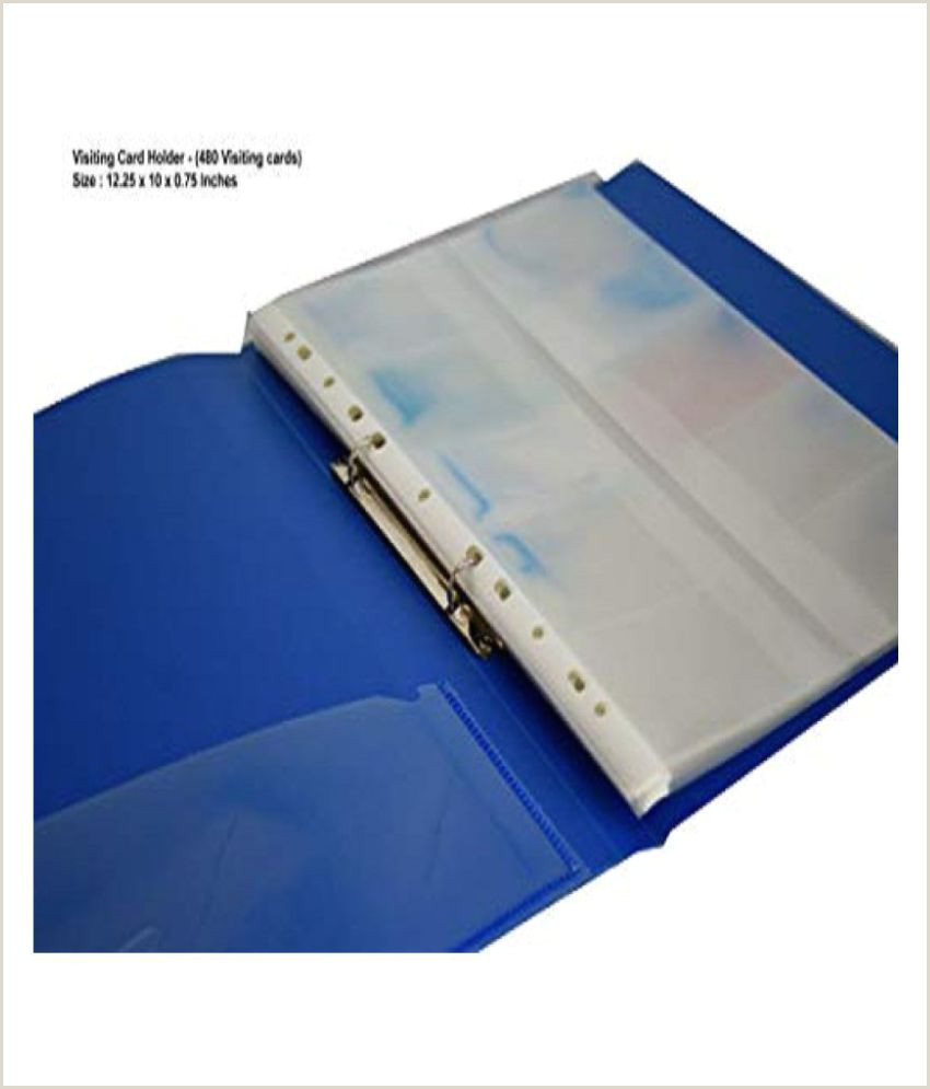 Business Card Proof Visiting Card Holder Name Card Holder Aropack Business Card Organiser Capacity 480 Cards Blue 1 Pcs