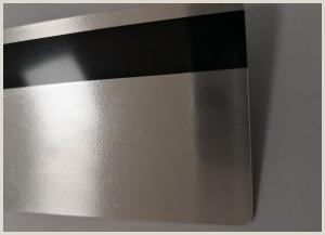 Business Card Proof Wear Resistant Metal Membership Card Hico Magnetic
